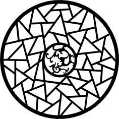 Circle Geometric Ornament Vector dxf File