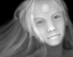 3d Grayscale Girl Relief Picture BMP File