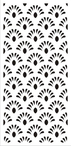 Jali Design Flourishing Floral Design Pattern dxf File