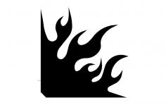 Flame Corner Design dxf File