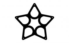 Wine Rack Star dxf File