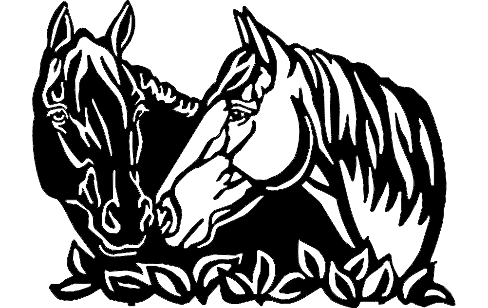 Horses Art Dxf File Free Download 3axis Co