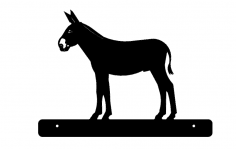 Donkey With Plate dxf File