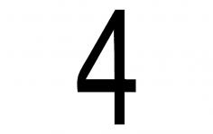 Number 4 dxf File