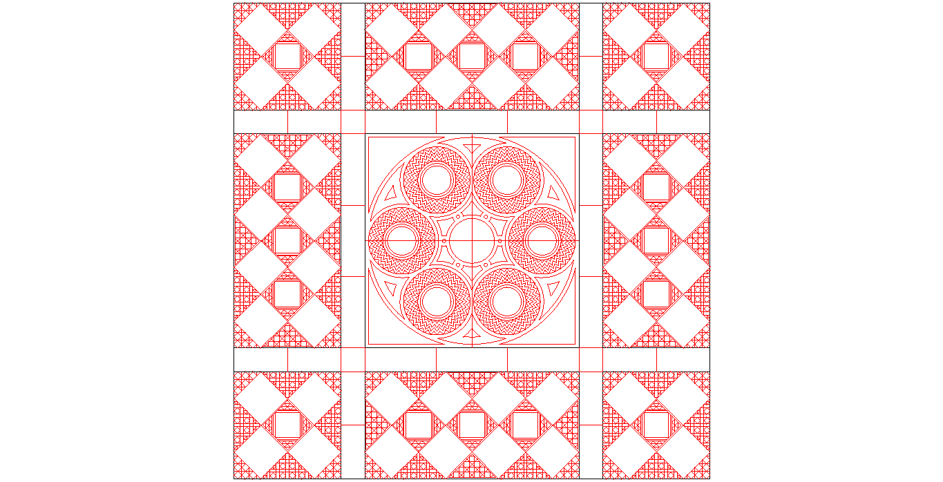 Geometrical Pattern DWG File Free Download - 3axis co