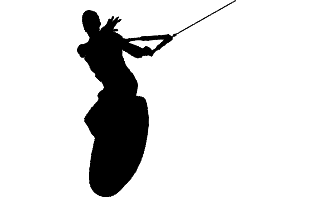 Wake Surfing Silhouette Dxf File Free Download 3axis Co