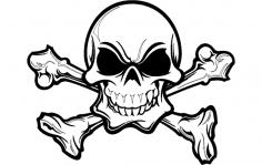 Skull Silhouette Details dxf File