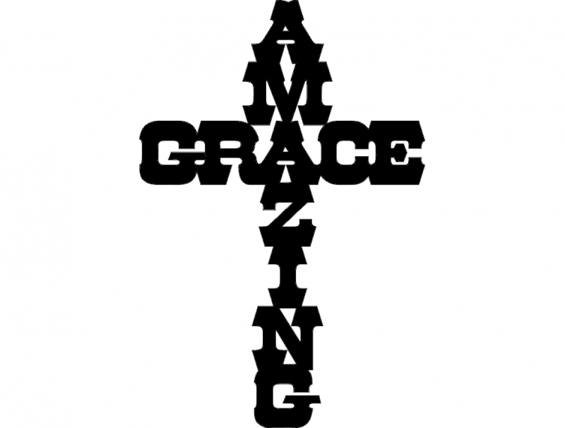 amazing grace dxf file free download