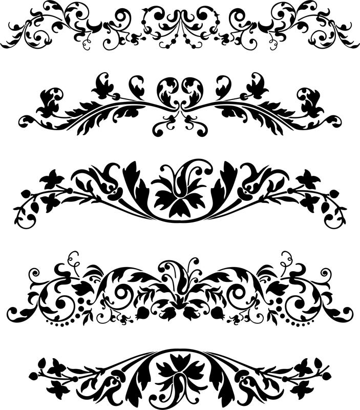 Black vector ornaments set coreldraw vector r file free black vector ornaments set cdr file stopboris Choice Image
