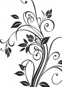 Floral Silhouettes Vector Art CDR File