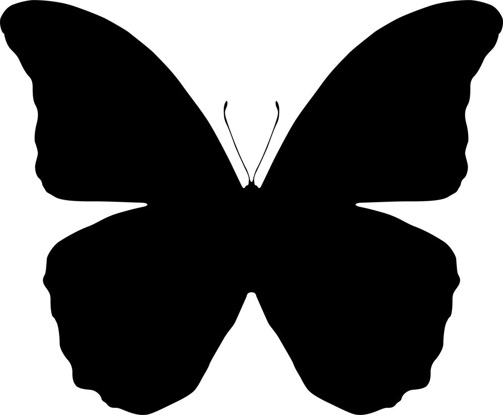 Butterfly Silhouette Vector Art Illustration Ai Vector