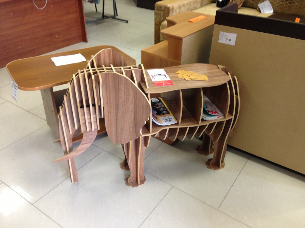 Elephant 3D Bookshelf CDR File