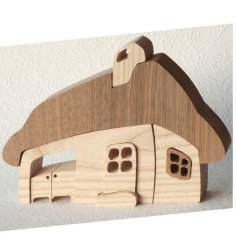 Wooden Toy Ev dxf File