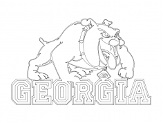 Georgia Bulldogs Logo dxf File