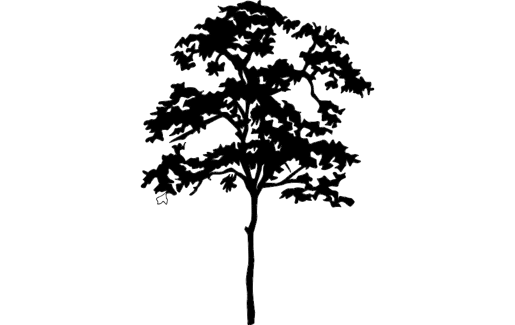 Tree Silhouette Dxf File Free Download 3axis Co