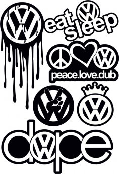 VW Logo Vector CDR File