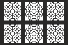 Decorative Grille Pattern CDR File