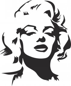 Marilyn Monroe Stencil Vector CDR File
