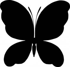 Black Butterfly Silhouette Vector CDR File