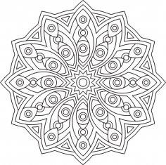Mandala Des Geometrical CDR File