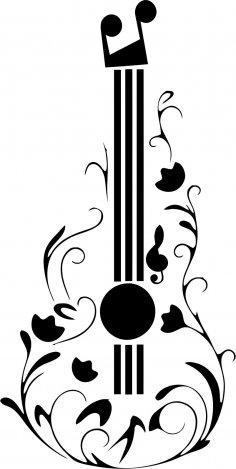 Guitar Tattoo Design CDR File