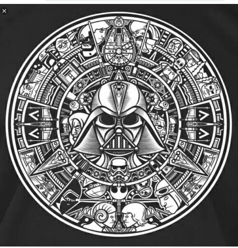 Star Wars Aztec Calendar DXF File Free Download - 3axis co