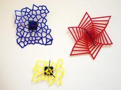 Laser Cut Kids Room Acrylic Wall Clocks Free Vector