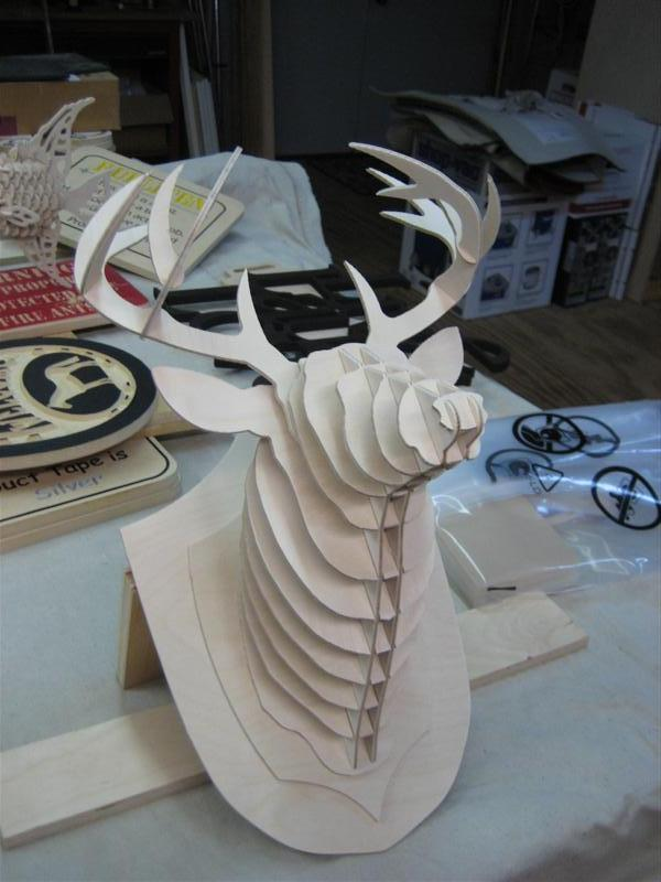 Deer Head 3d Puzzle Dxf File Free Download 3axis Co