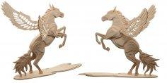 Magical Pegasus (Flying Horse) CNC Laser Pattern L 12 mm dxf File
