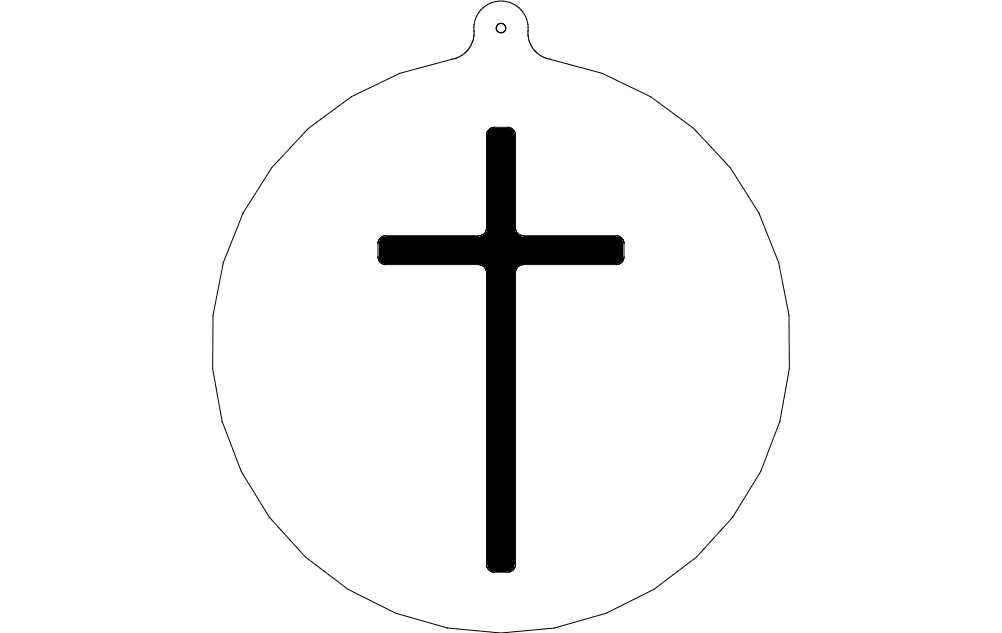 cross ornament dxf file free download
