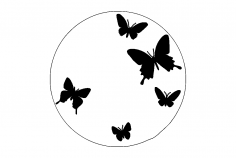 Butterfly Clock dxf File