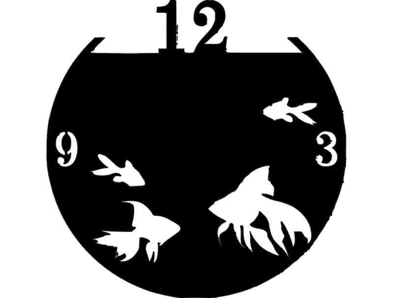 Acquario Clock dxf File