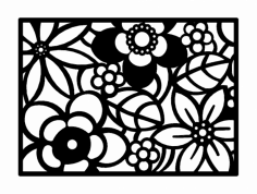 Abstract Flower Art dxf File