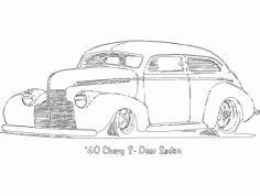 Chevy 2 Portas Sedan dxf File