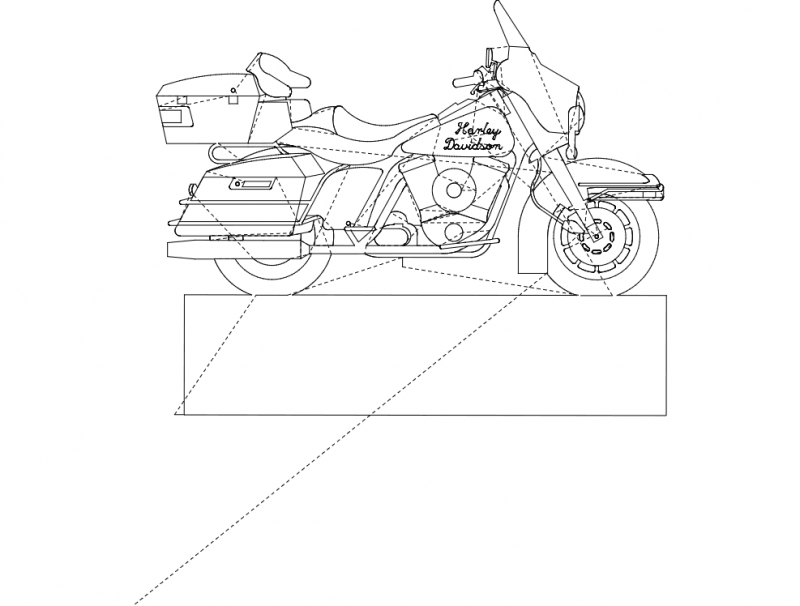 Harley Davidson Bike Dxf File