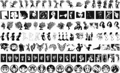 Vector Set of Woman Silhouettes CDR File