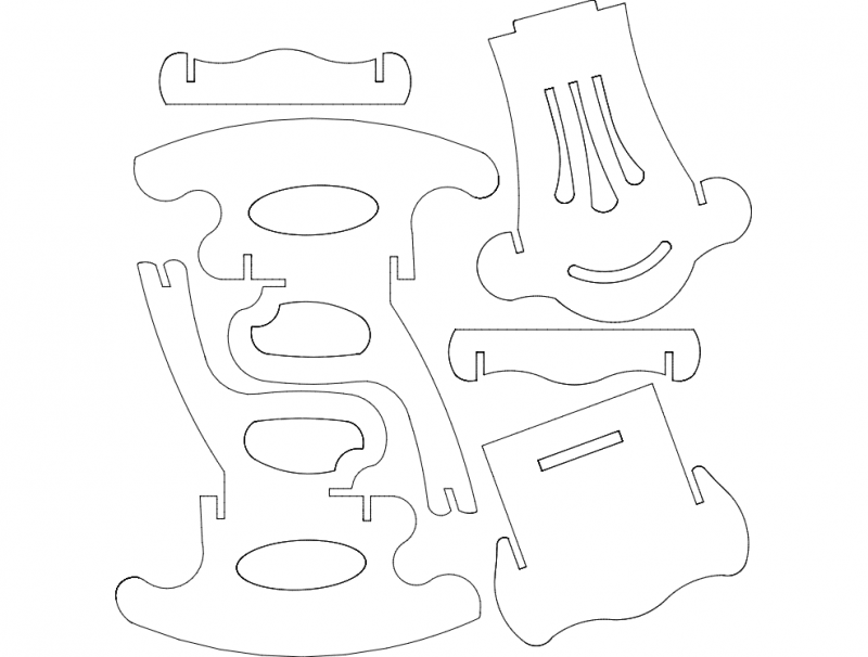 Rocking Chair S6 Dxf File Free Download 3axis Co