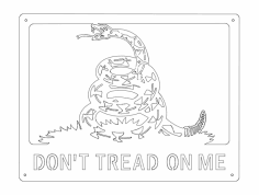 Don't Tread On Me dxf File