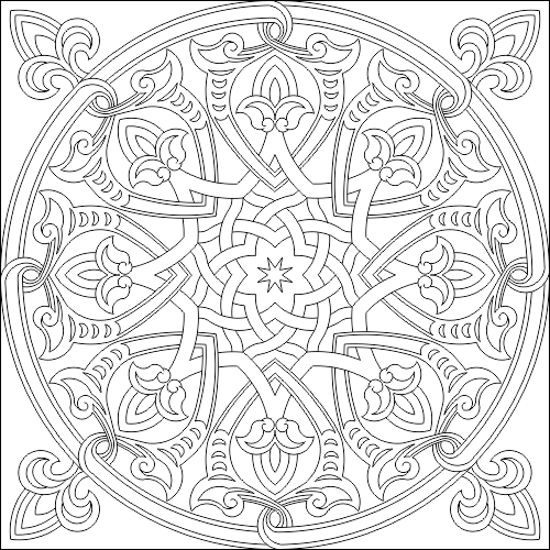 Islamic Decorative Pattern DWG File Free Download - 3axis co