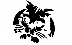 Kitty Cat dxf File
