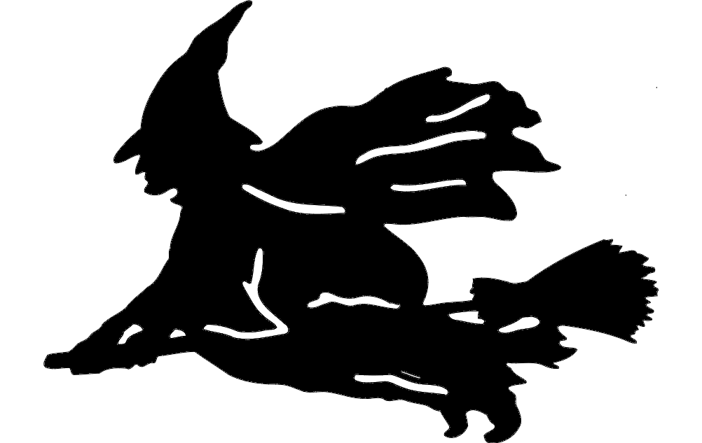 Witch Silhouette Dxf File Free Download 3axis Co