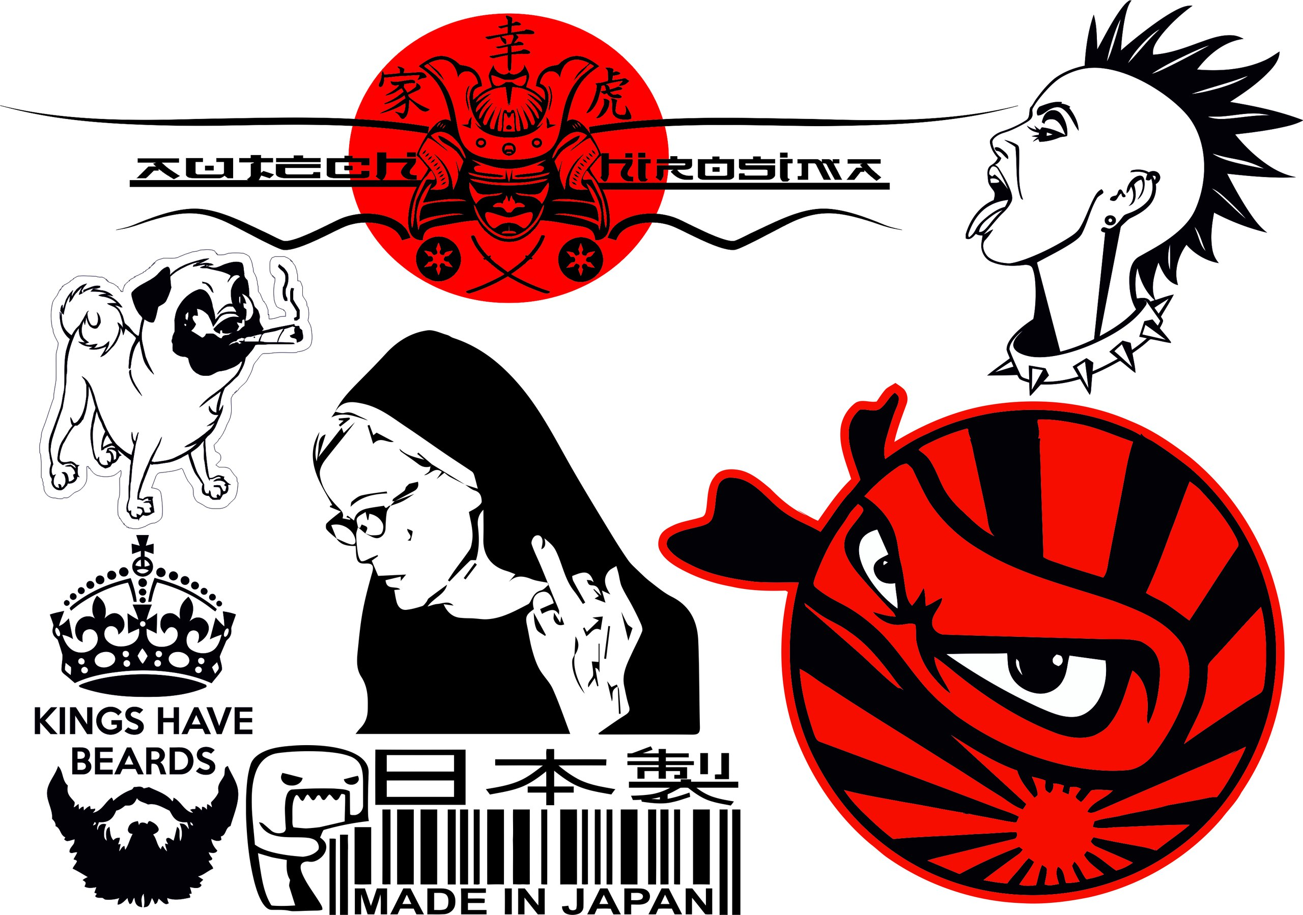 car decal vector collection pack coreldraw vector cdr