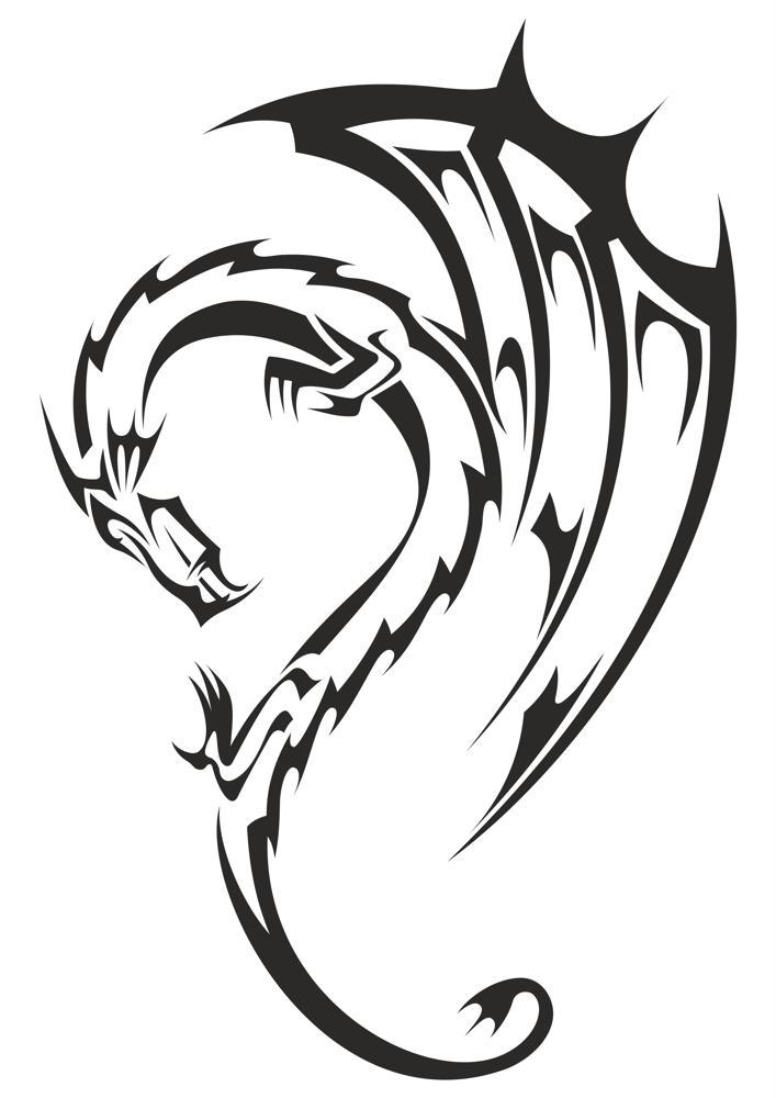 Tattoo dragon drawing tribal 31 Powerful