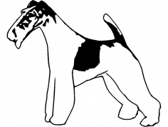 Wire Fox Terrier 2 dxf File