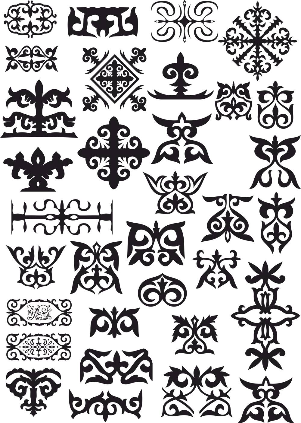 Kazakh Patterns Vector CDR File