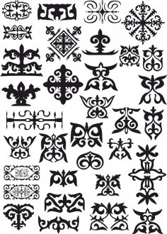 Kazakh Patterns Vector CDR File