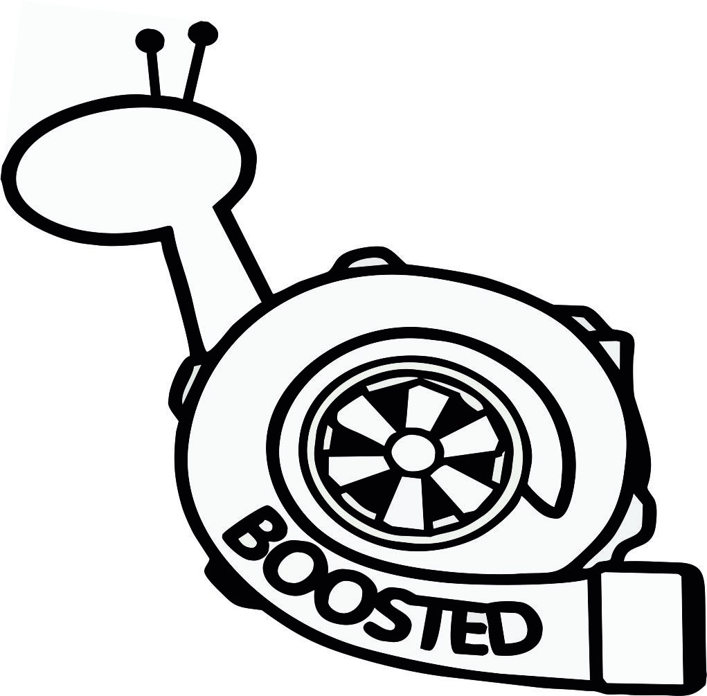 Boosted Snail Sticker Vinyl Decal vector Free Vector cdr Download