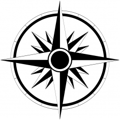 Wind Rose Sticker Vector CDR File