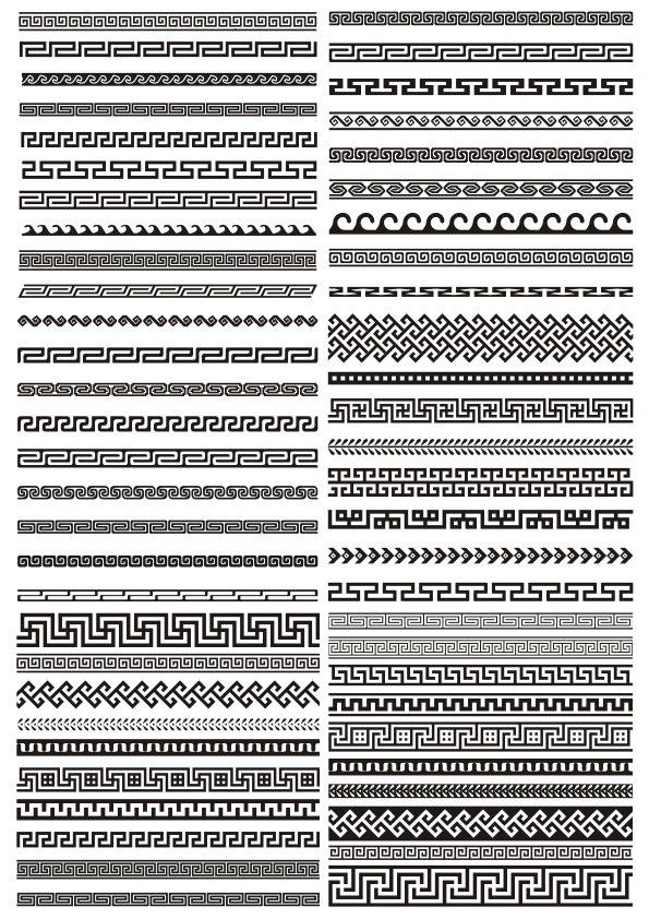 Greek border vector pattern CDR File