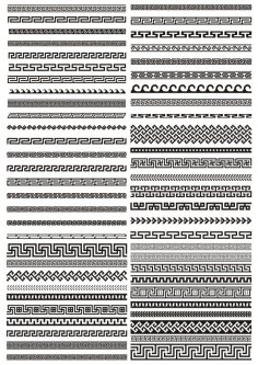 Greek border vector pattern CDR File